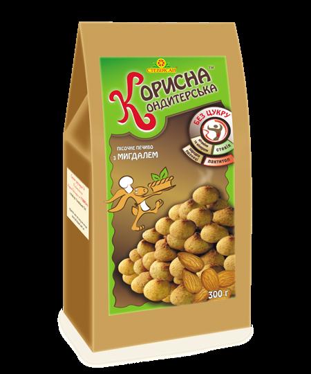 Песочное печенье с миндалем, 300 г