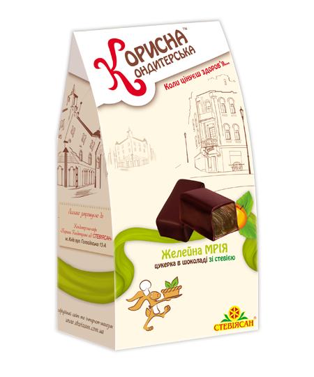 """Конфеты в шоколаде """"Желейная МЕЧТА"""" со стевией, 150 г"""