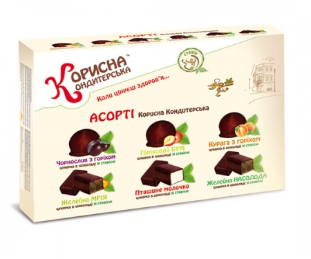 Цукерки в шоколаді Асорті, 600 г