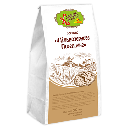 Борошно «Цільнозернове Пшеничне», 500 г