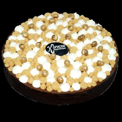 Шоколадная тарта с соленой карамелью