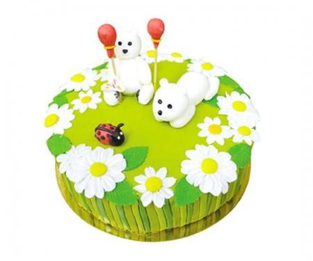 Торт на замовлення «Ромашкове поле»
