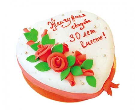 Торт на заказ «Жемчужная свадьба»