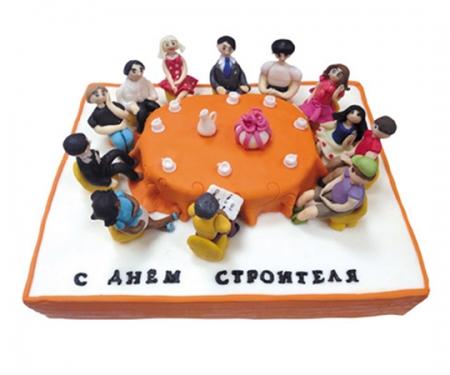 Торт на заказ «День Строителя»