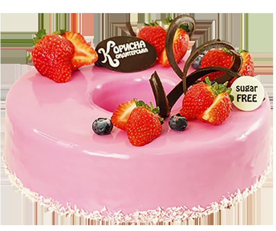 Торт «Полунично-обліпиховий»