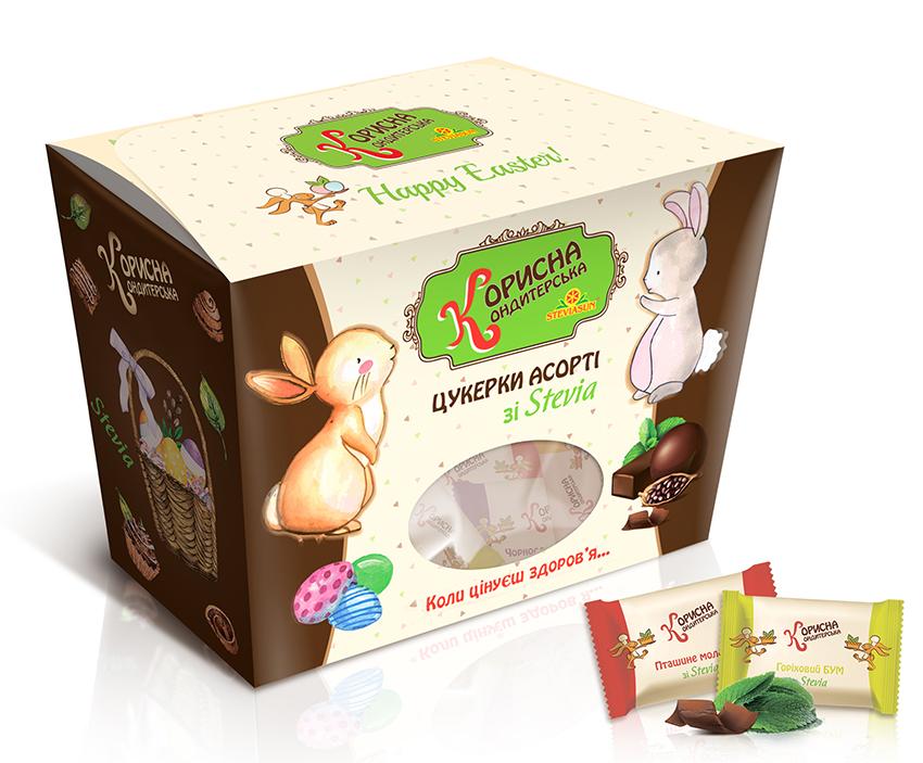 Великодні цукерки шоколадні Асорті, 180