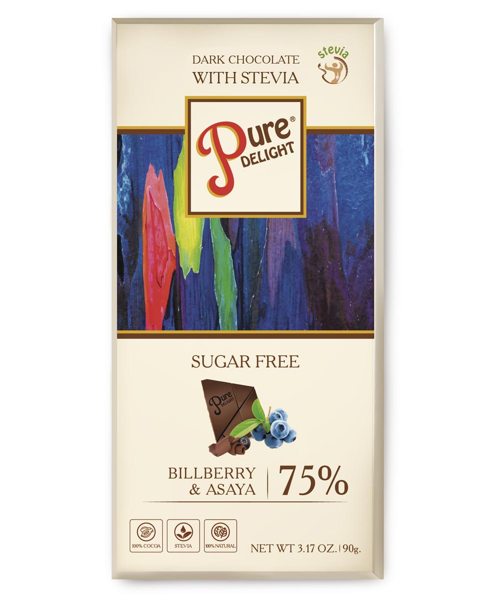 Шоколад чорний «Pure Delight» з лохиною та асай бері
