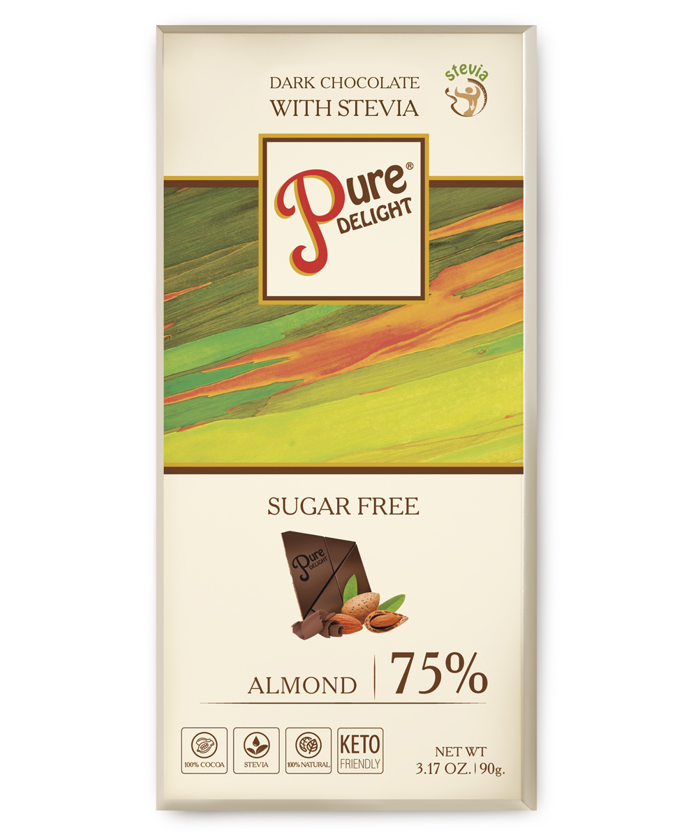 Шоколад чорний «Pure Delight» з мигдалем